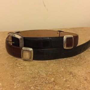 Vintage 1996  Brighton Leather Belt Brown/Black M